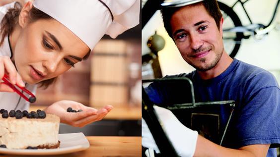 הכשרות במקצועות המטבח ומכונאות אופניים